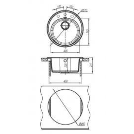 Кухонная мойка ЛОТОС 510