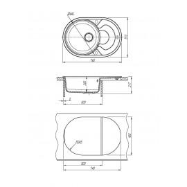 Кухонная мойка РОДОС 760