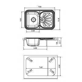 Кухонная мойка КРИТ 780