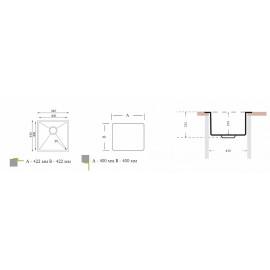 Кухонная мойка ОПТИМА 400.400