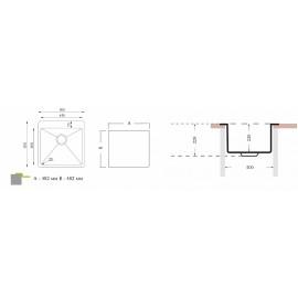 Кухонная мойка ОПТИМА 500.500