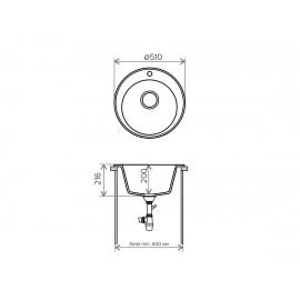 Кухонная мойка TOLERO R-108
