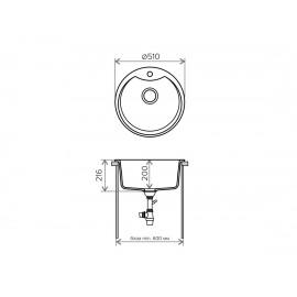 Кухонная мойка TOLERO R-108E