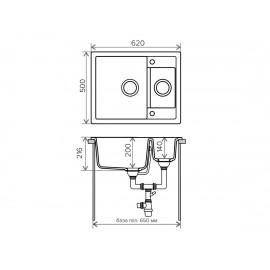 Кухонная мойка TOLERO R-109