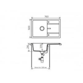 Кухонная мойка TOLERO R-112
