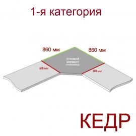 Угловая столешница КЕДР 1-я группа - Цвет: Аттика Кедр 4023/S