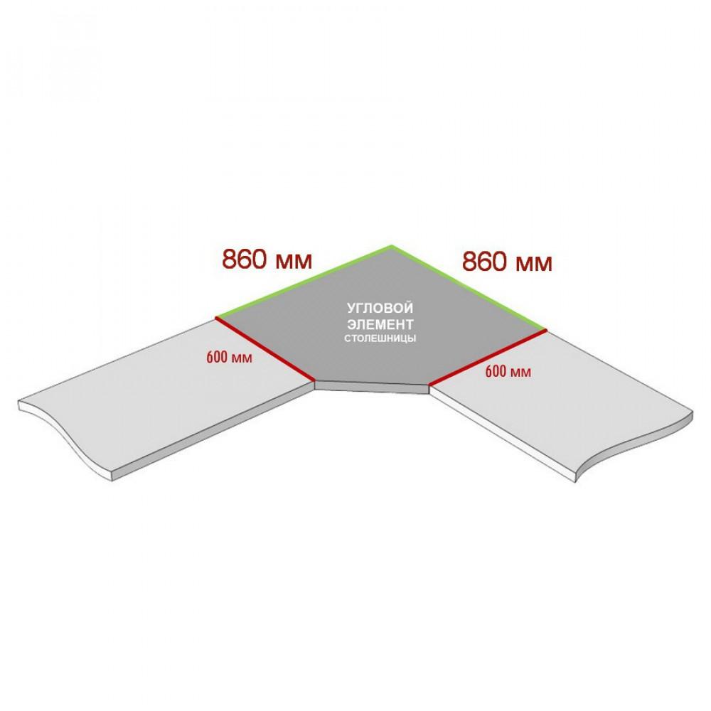 Угловая столешница КЕДР 5-я группа - Цвет: Серый гранит 3504/ХХ