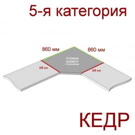 Угловая столешница КЕДР 5-я группа - Цвет: Мрамор Bianco 40220/Qr