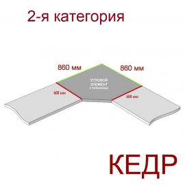Угловая столешница КЕДР 2-я группа - Цвет: Металлик 5021/S