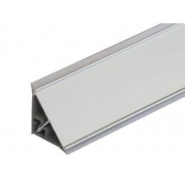 Плинтус угловой пристенный с алюминиевой вставкой L=3050 мм, гладкий