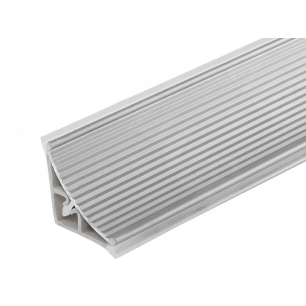 Плинтус угловой пристенный с алюминиевой рифлёной вставкой L=3050 мм