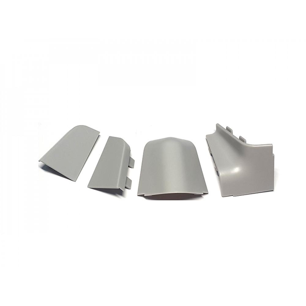 Комплект уголков и заглушек серый пластик, для плинтуса РИО 123925