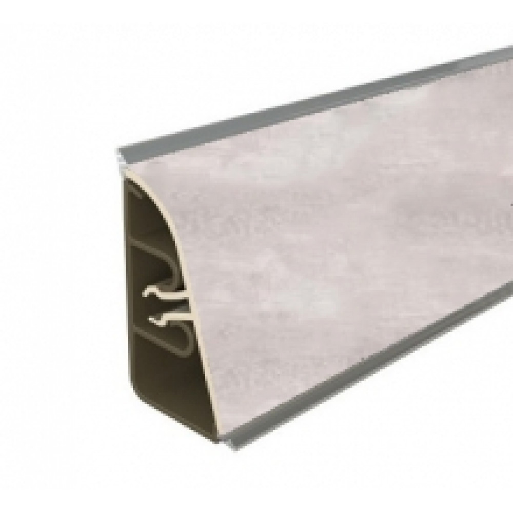 Плинтус для столешницы Thermoplast AP740 Цвет Серый бетон 3 м